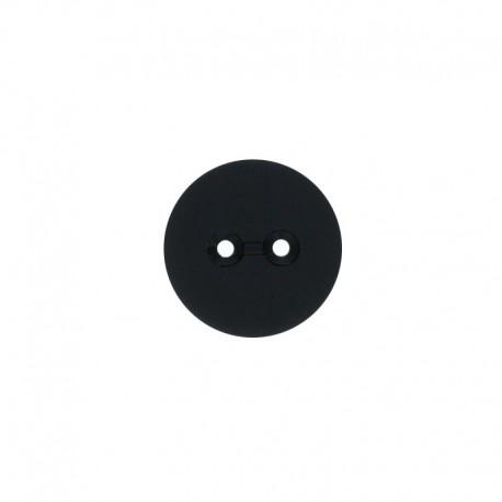 Recycled Plastic Button - black Ezio