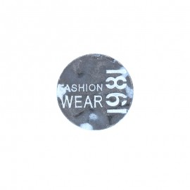 1981 jeans button - silver