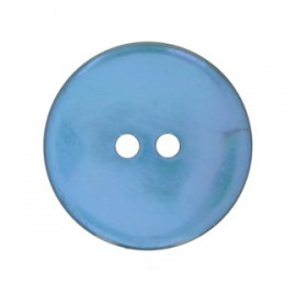Mother-of-Pearl round button - ocean blue