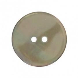 Bouton nacre rond - Vert de gris