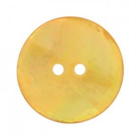 Mother-of-Pearl round button - ochre