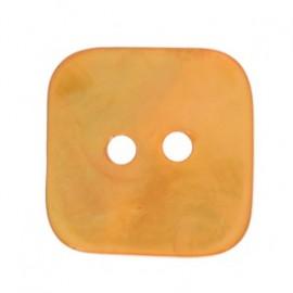 Bouton nacre carré - curry