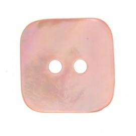 Bouton nacre carré - rose