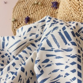 Viscose fabric Atelier brunette -  Shade cobalt x 10cm