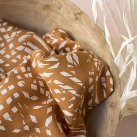 Viscose fabric Atelier brunette -  Shade ochre x 10cm