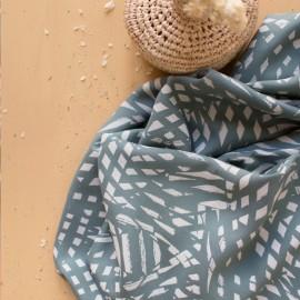 Viscose fabric Atelier brunette -  Shade cactus x 10cm