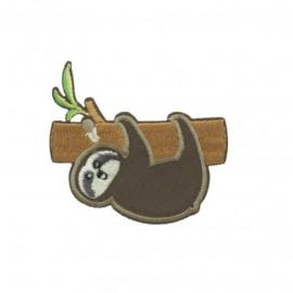 Dario le paresseux Iron-On Patch - Brown