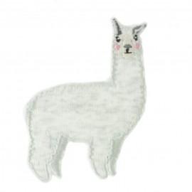 Lili le lama Iron-On Patch - mottled grey