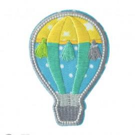 Summer montgolfière Iron-On Patch - blue