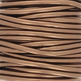 Cordon simili cuir Metallic - Cuivre x 1m