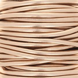Metallic imitation leather Cord - rose gold x 1m