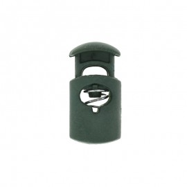 30 mm Polyester Cord Lock Stopper - dark green Hood