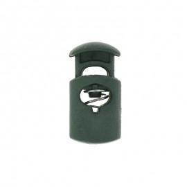30 mm Polyester Cord Lock Stopper - dark green Hood