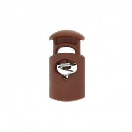 30 mm Polyester Cord Lock Stopper - brown Hood