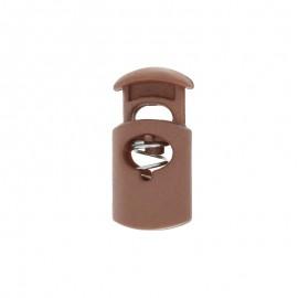 30 mm Polyester Cord Lock Stopper - mocha Hood