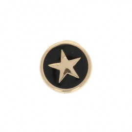 10 mm Metal Button - gold/black Star