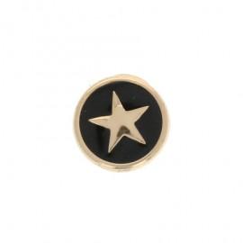 Bouton Métal Star 10 mm - Noir/Doré