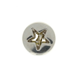 10 mm Metal openwork Button - silver Étoile