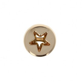 10 mm Metal openwork Button - golden Étoile