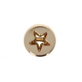 Bouton Métal ajouré Étoile 10 mm - Doré