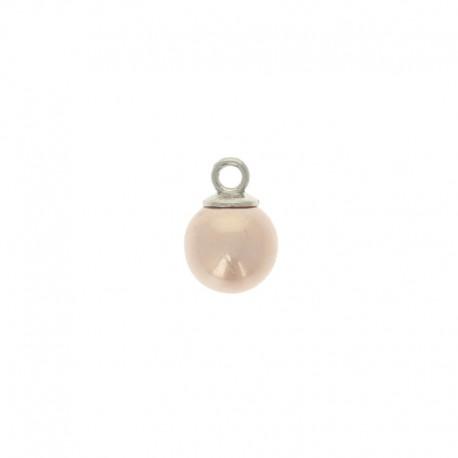 Bouton perle boule Douceur 10 mm - rose