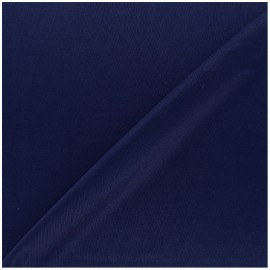 Tissu doublure jersey - marine x 10cm