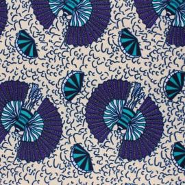 Tissu Wax Izazi - écru x 10cm