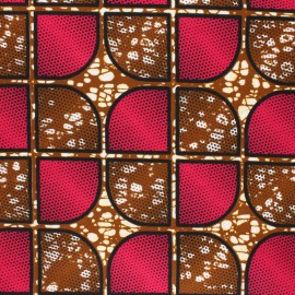 Wax print fabric - fuchsia Kisanga x 10cm