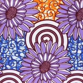 Wax print fabric - purple Kilosa x 10cm