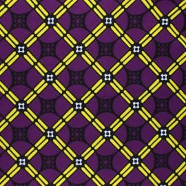 Tissu Wax Ilonga - violet x 10cm