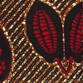 Tissu Wax Nambunga - rouge x 10cm