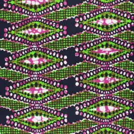 Wax print fabric - green Bawala x 10cm