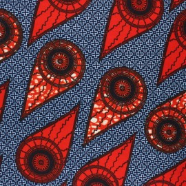 Wax print fabric - navy blue Twara x 10cm