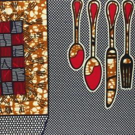 Wax print fabric - camel Ruawa x 10cm