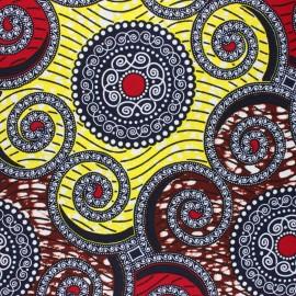 Tissu Wax Mangao - rouge x 10cm