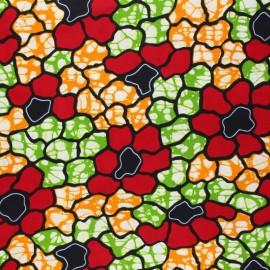 Tissu Wax Simbo - rouge x 10cm