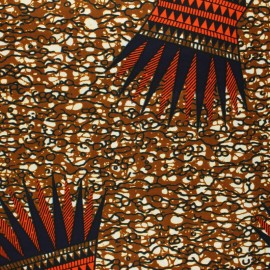 Wax print fabric - brown Shirati x 10cm