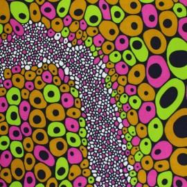 Tissu Wax Gharagab - vert x 10cm