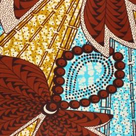 Tissu Wax Majiri - marron x 10cm