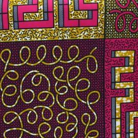 Tissu Wax Kiru - fuchsia x 10cm