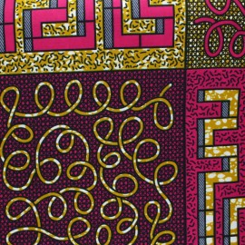 Wax print fabric - fuchsia Kiru x 10cm