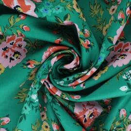 Tissu popeline satinée Cloud 9 - Wildflower - Sweet rose x 10 cm