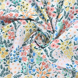 Cloud 9 satin poplin fabric - Wildflower Meadow x 10 cm
