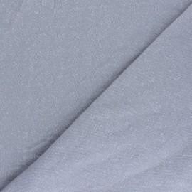 Tissu Mind the Maker Sweat moucheté - gris x 10 cm