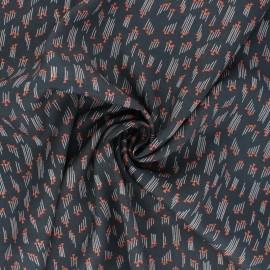 Tissu rayonne Cotton Steel Emilia - Hermione - ardoise x 10cm