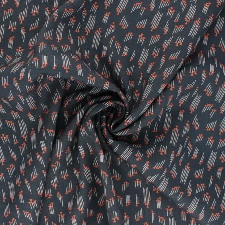 Cotton Steel Rayon fabric - Emilia Hermione slate x 10cm