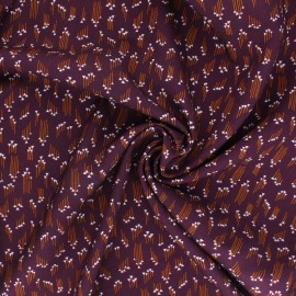 Cotton Steel Rayon fabric - Emilia Hermione plum x 10cm