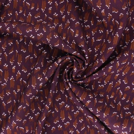 Cotton Steel Rayon fabric - Emilia Hermione plum x 10cm