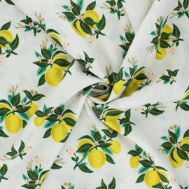 Tissu rayonne Cotton Steel Rifle paper - Primavera - Citrus blossom x 10cm