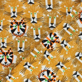 Tissu coton Cloud 9 - Ed Emberley favorites - Lions and tigers x 10 cm